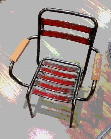 Fauteuil Tolix T2 (1950/60) .Prochaine realisation ( 5pcs) .Finition metal ,et,peinture vieillie.