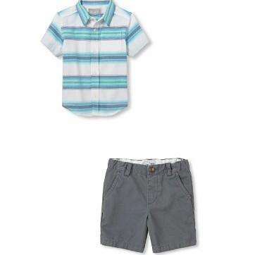 Short sleeve button down shirt $30Grey shorts $25 (SOLD)