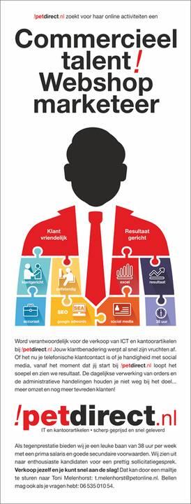 Voor petdirect zoeken wij een nieuwe collega. Heb je interesse? Bel of mail met Toni Melenhorst: t.melenhorst@petonline....