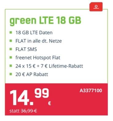 Jetzt unser Black Friday Vertrags Angebot ✅🥳Der Green LTE mit 18 GB Internet und einer AllnetFlat für nur 14,99€🔥 mtl.  ...